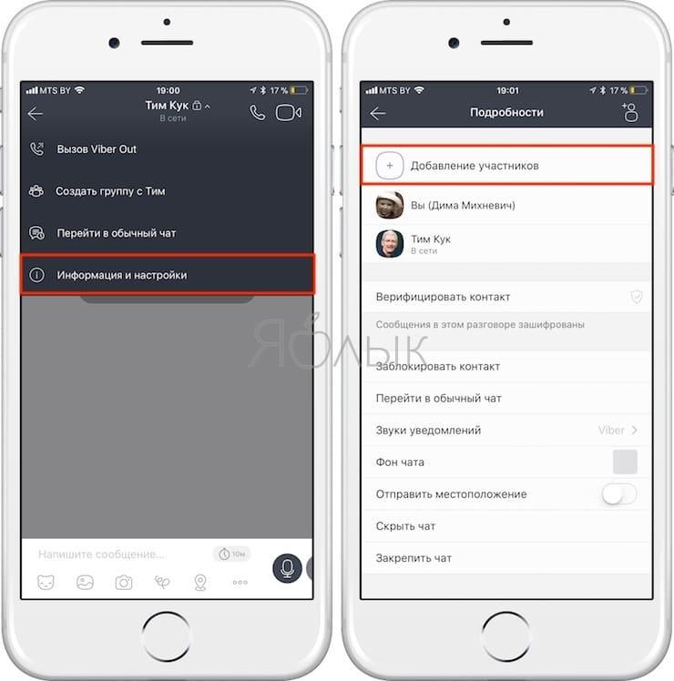 Секретный чат (переписка) в Viber на iPhone
