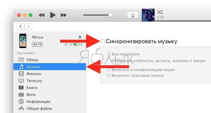 Как загрузить музыку с компьютера на Айфон или Айпад через iTunes