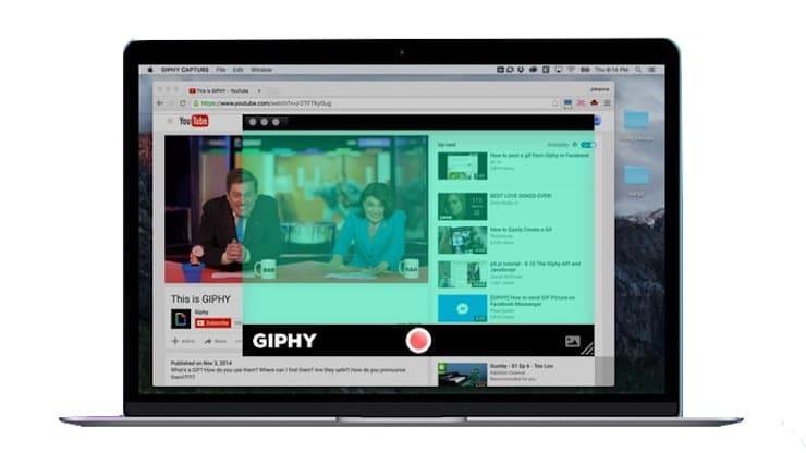 запись видео в gif с рабочего стола