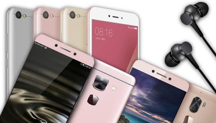 Смартфоны и наушники LeEco, Xiaomi