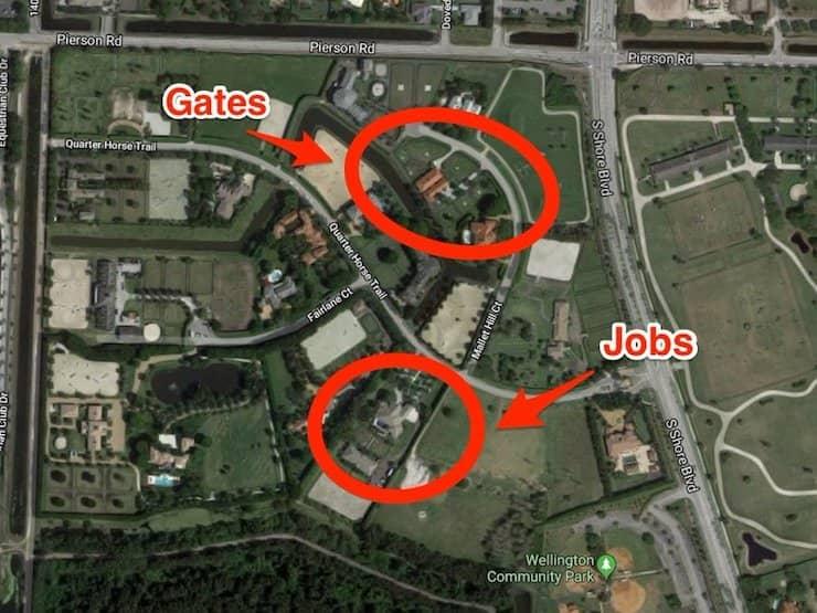 Дома Джобсов и Гейтсов