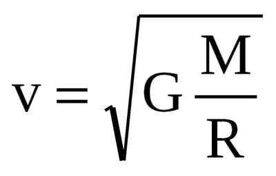 первая космическая скорость формула