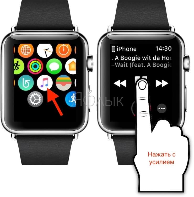 Транслирование музыки с Apple Watch на устройство с поддержкой AirPlay