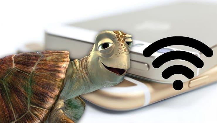 Медленный тормозит интернет (3g / 4g / Wi-Fi) на Айфоне