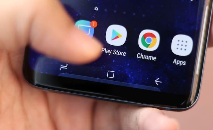 Мертвые зоны на дисплее Samung Galaxy S9
