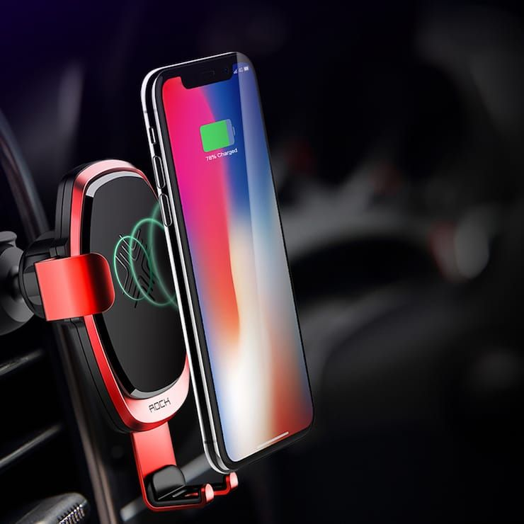 Wireless car chargers for iPhone X, iPhone 8 and iPhone 8 Plus