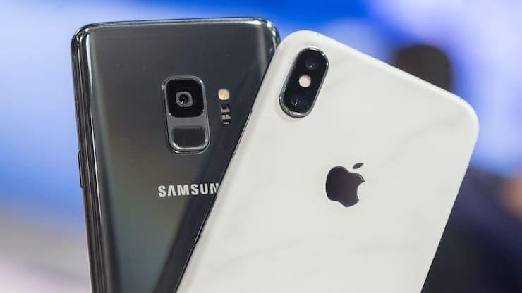 Samsung Galaxy S9 и iPhone X