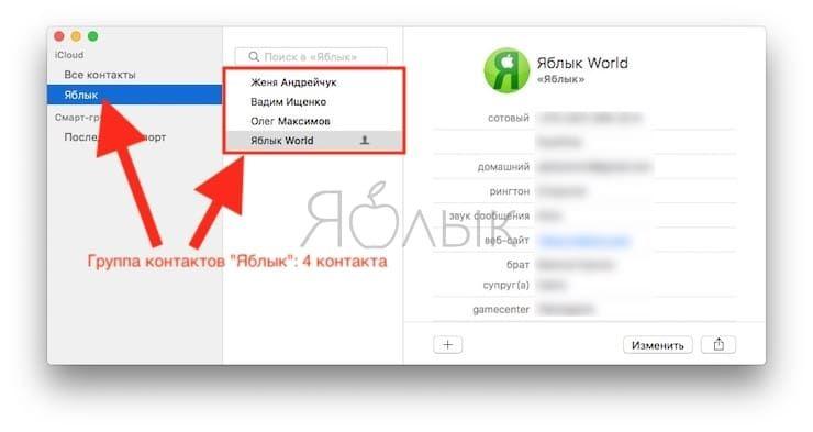 Как отправить электронное письмо группе контактов на Mac