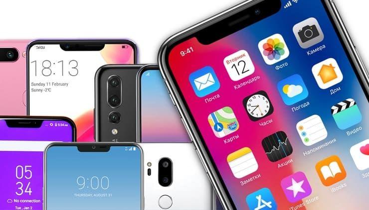 iphone x - notch trend