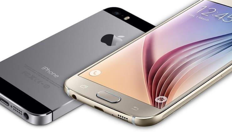 Galaxy S6 и iPhone 5s