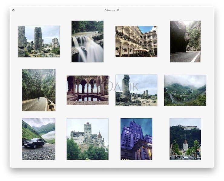 Как просмотреть несколько фотографий в режиме Quick Look на Mac