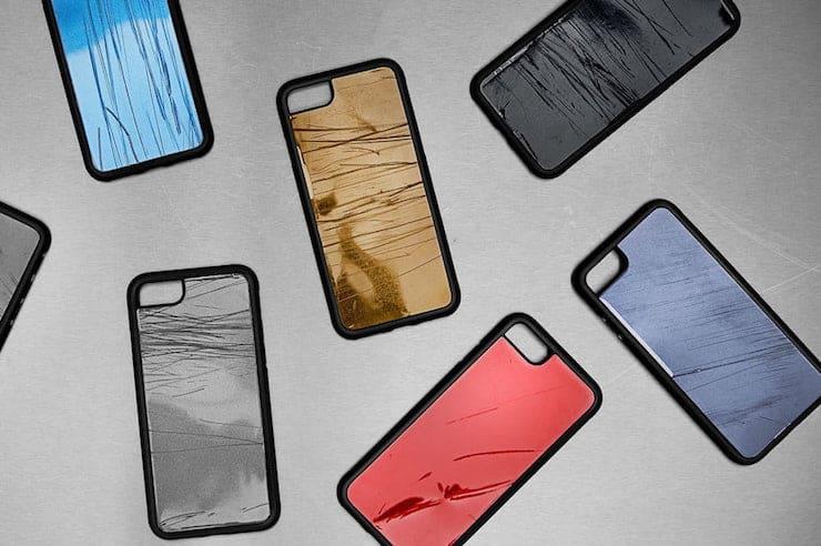 чехлы для iPhone 8, изготовленные из «останков» разбитых в авариях машин
