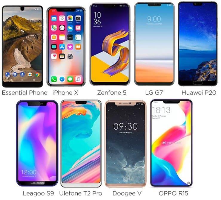 Как Android-производители копируют вырез iPhone X