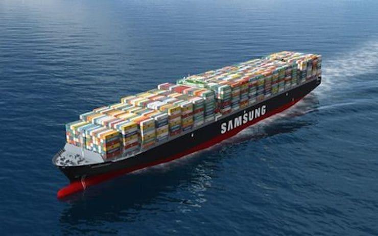 Samsung строит контейнерные суда