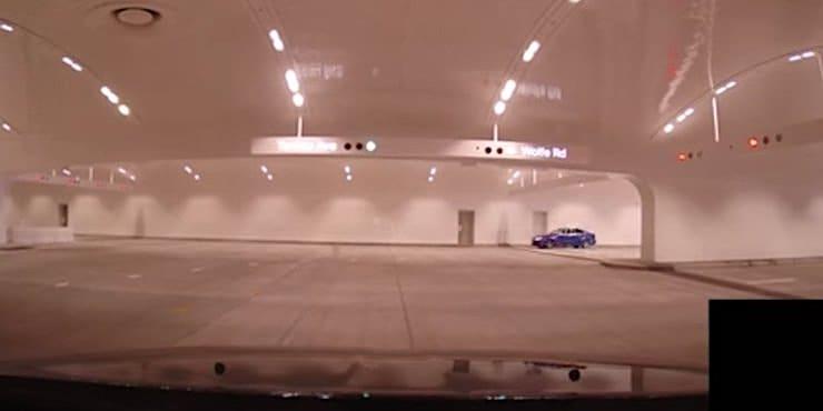 Невероятная подземная парковка в новой штаб-квартире Apple Park