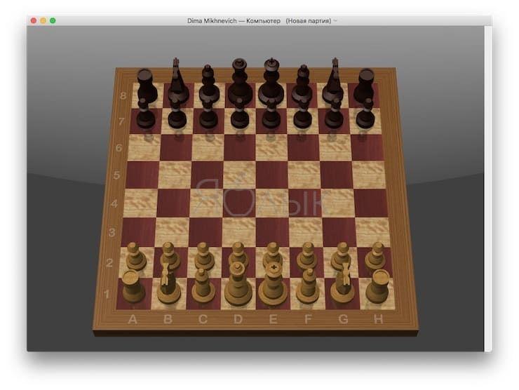 Шахматы на Mac