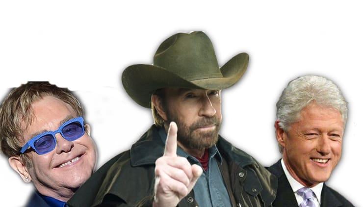 Настоящие имена звезд — как на самом деле зовут Чака Норриса, Билла Клинтона, Элтона Джона и еще 50 знаменитостей