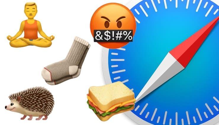 Как использовать эмодзи вместо названий закладок Safari на Mac, iPhone и iPad