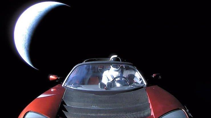 tesla roadster elon mask