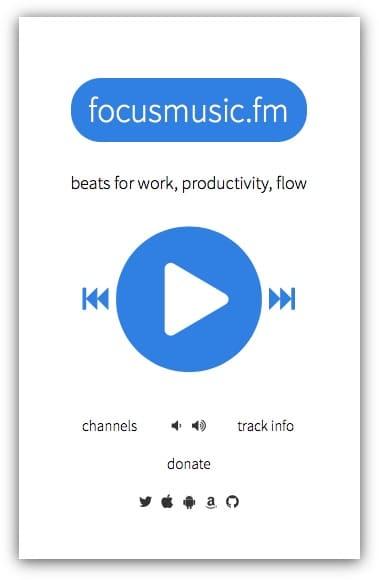 FocusMusic.FM (веб-приложение): Бесплатная радиостанция для повышения продуктивности работы