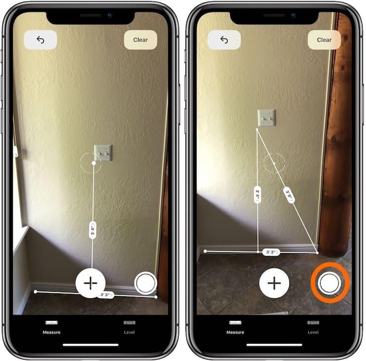 Как измерять расстояния в приложении Measure на iPhone