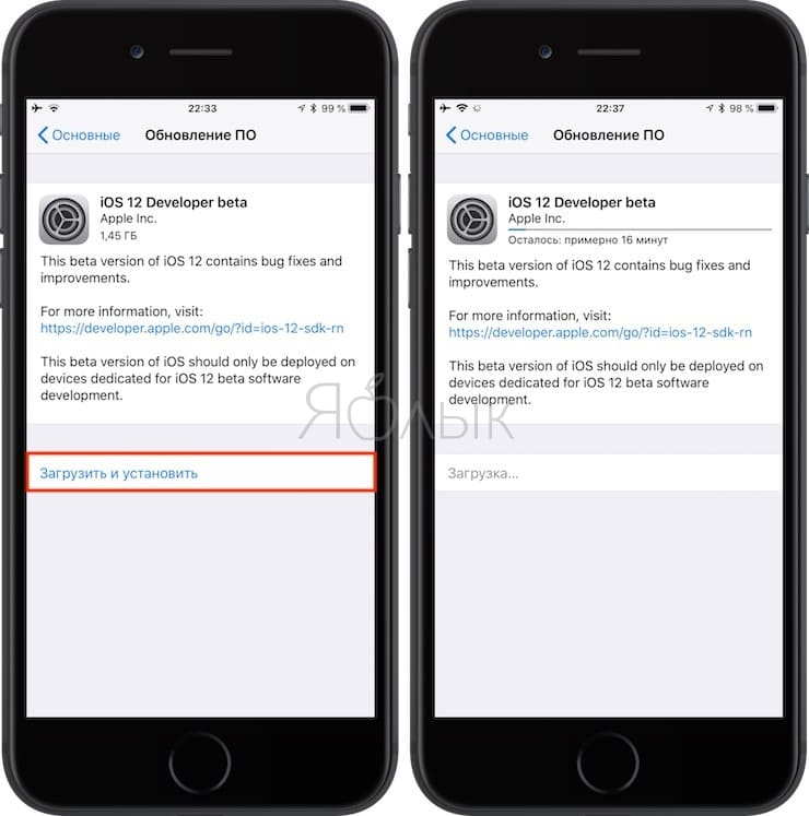 Как установить iOS 12 бета для разработчиков на айфон или айпад (регистрация не требуется)