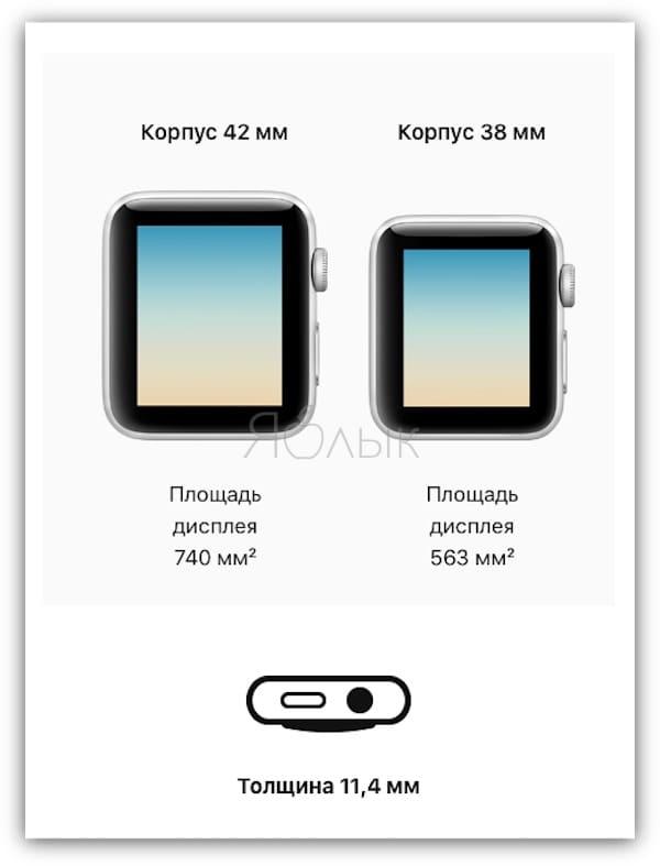 Чем отличается дисплей в Apple Watch Series 4 от Apple Watch Series 3