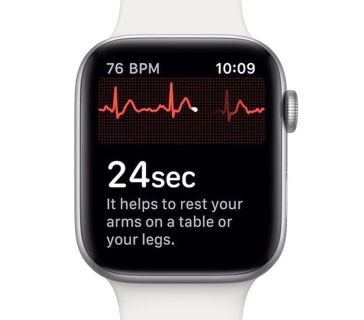 Измерение ЭКГ на Apple Watch