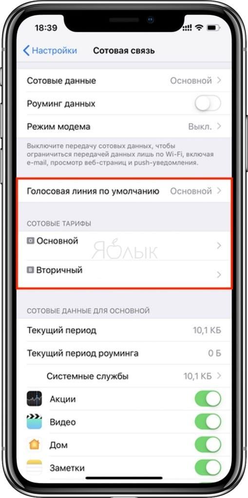Как настроить SIM-карту для звонков на двухсимочных Айфонах