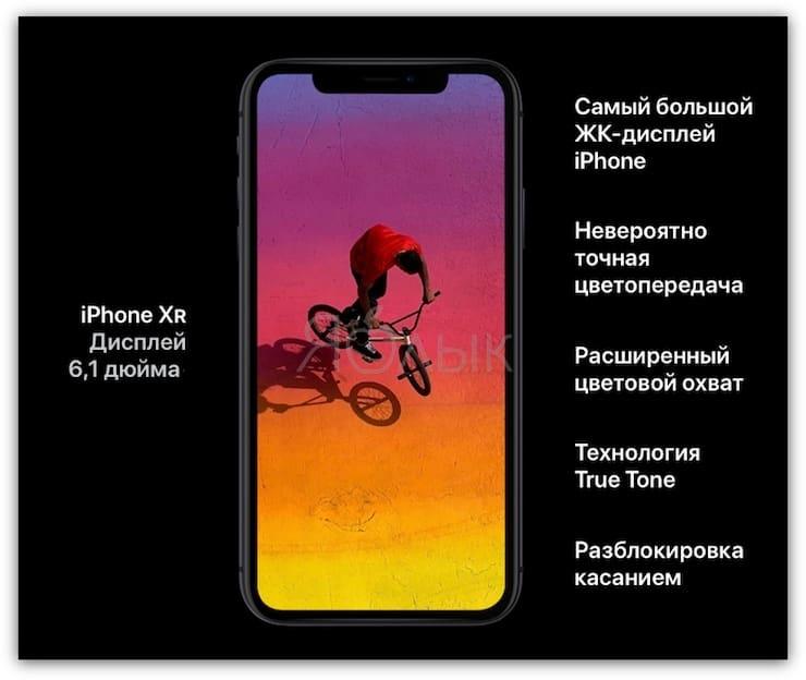 ДисплейiPhone XR