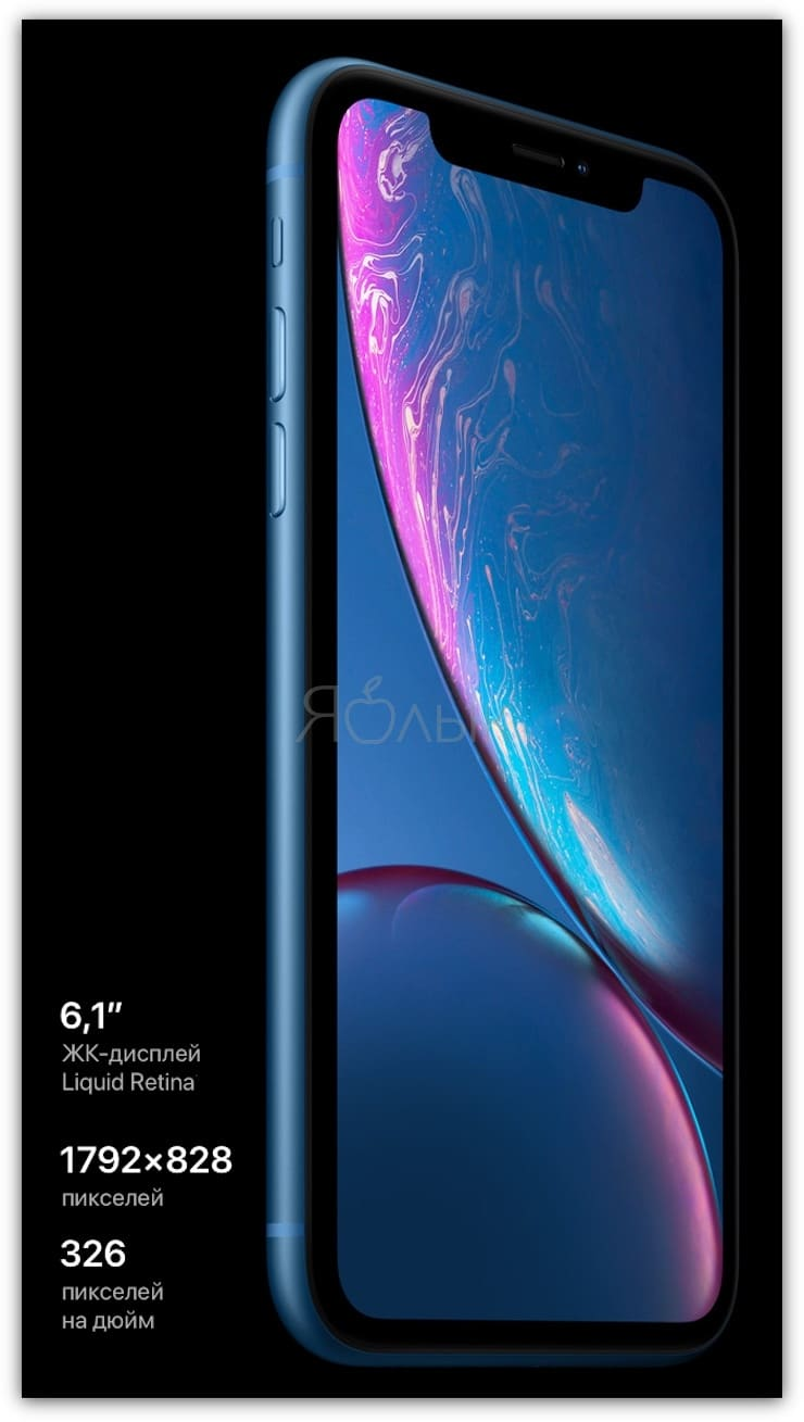 Дисплей iPhone XR
