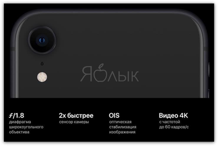 Основная камера iPhone XR