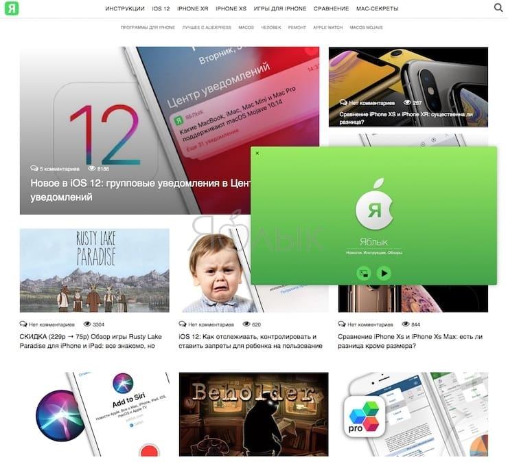 Как включить режим «Картинка в картинке» на macOS