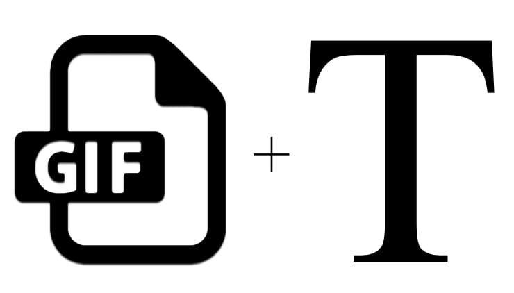 Как добавить текст в GIF (гифку) онлайн