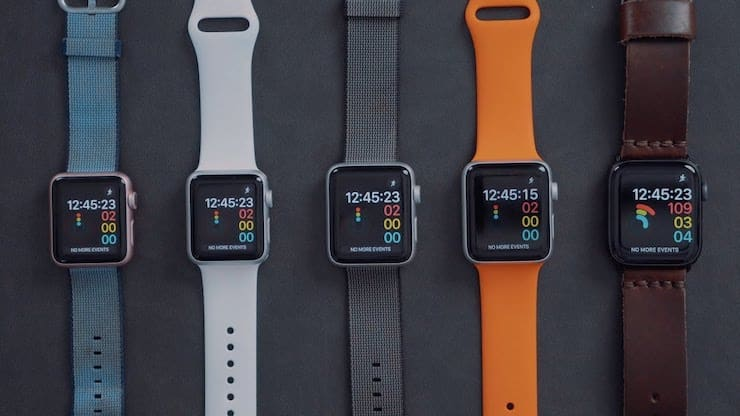Сравнение скорости работы Apple Watch Series 4, Series 3, Series 2 и Series 1