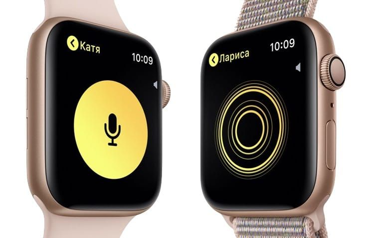 Как начать беседу в приложении Рация на Apple Watch