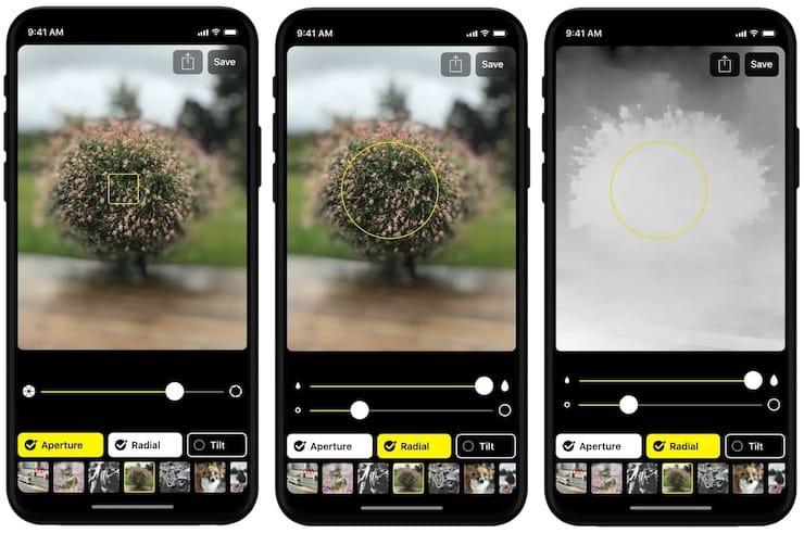 Приложение Slør для Портретного режима на iPhone