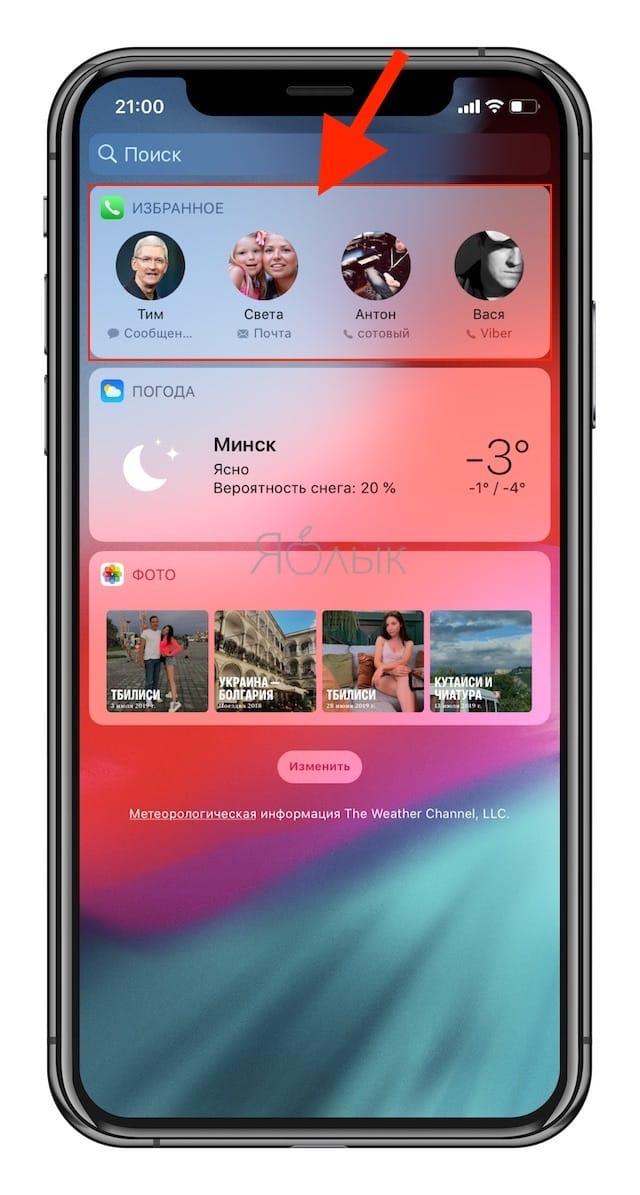 Избранные контакты в iPhone – для чего нужны и как правильно их настроить