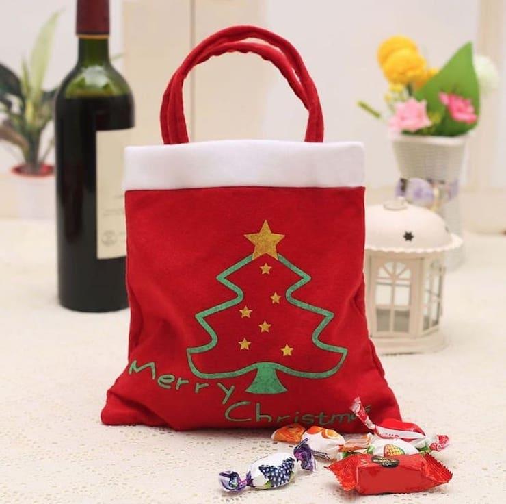 Новогодние сумки для подарков
