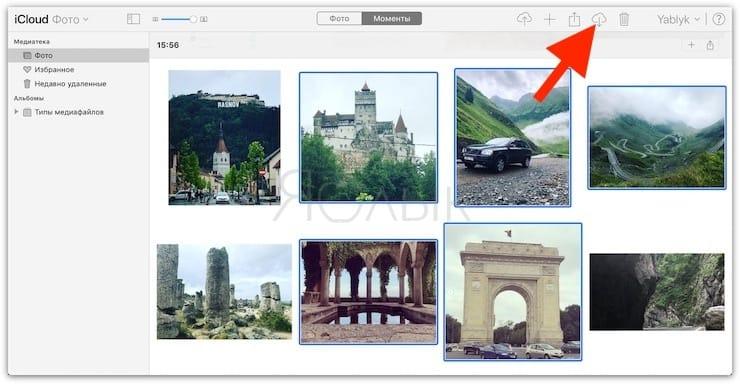 Как скачать фото и видео из iCloud при помощи сайта iCloud.com