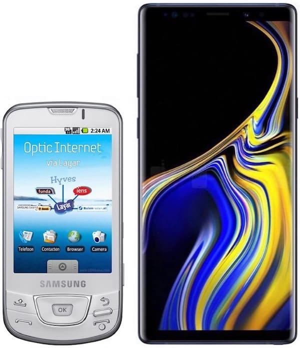 Samsung (Galaxy i7500 и Galaxy Note 9)