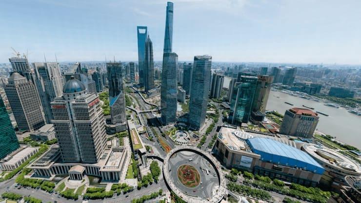 Фото Шанхая разрешением 195 млрд пикселей