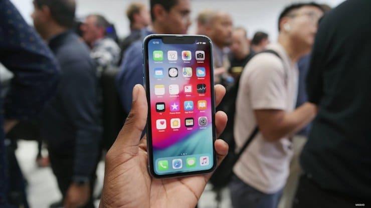 Синий iPhone XR