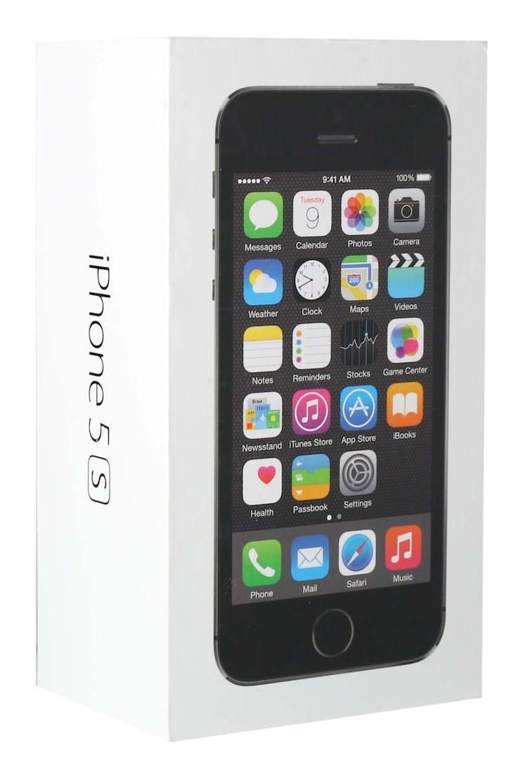 Коробка нового iPhone 5s