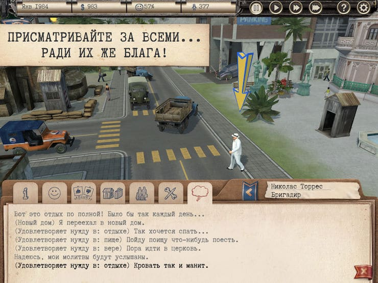 Review of the game Tropico for iPad