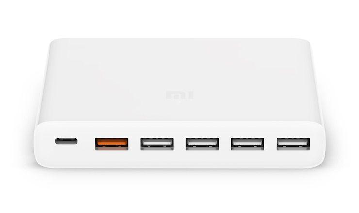 Xiaomi Mi Charger 60 Вт – 6-ти портовое зарядное с поддержкой USB Type-C и «быстрой зарядки»