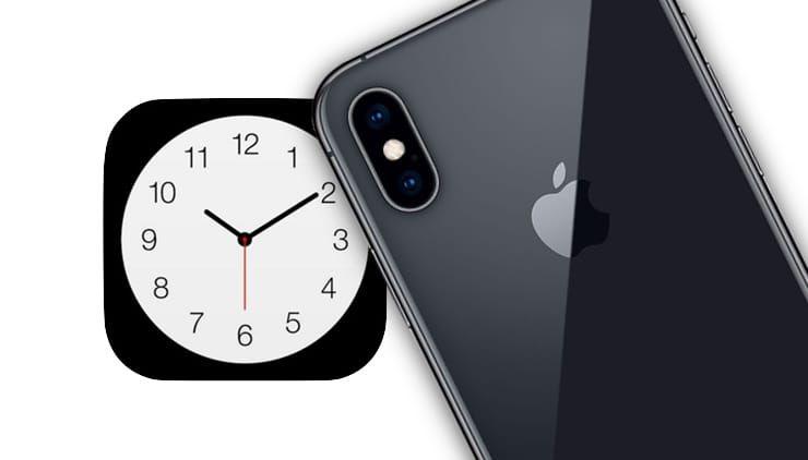 приложение Часы на iPhone