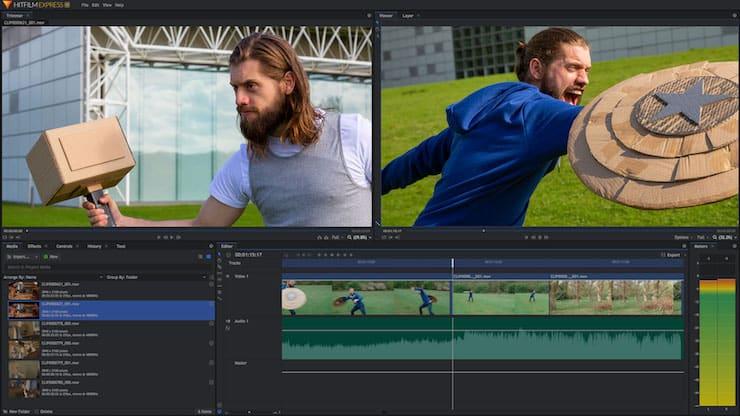 Hitfilm Express - бесплатный видеоредактор для Windows и Mac