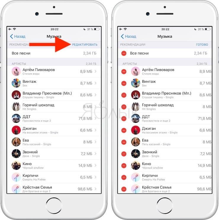Как удалить музыку с Айфона вручную и автоматически