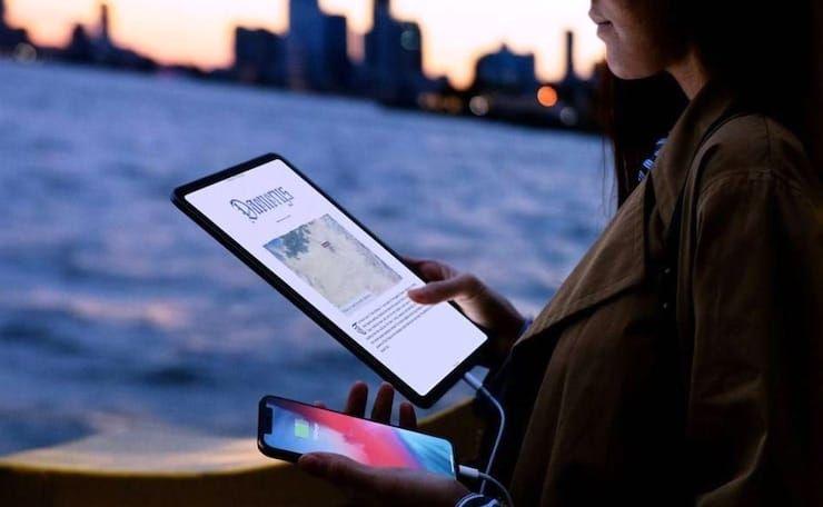 Как использовать iPad Pro в качестве зарядки (повербанка) для iPhone